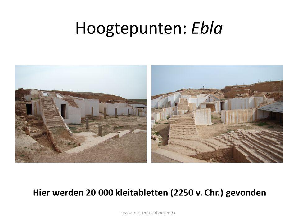 Hier werden 20 000 kleitabletten (2250 v. Chr.) gevonden
