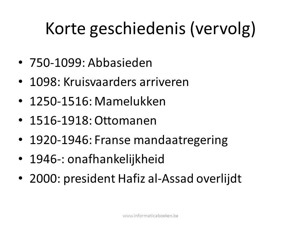 Korte geschiedenis (vervolg)