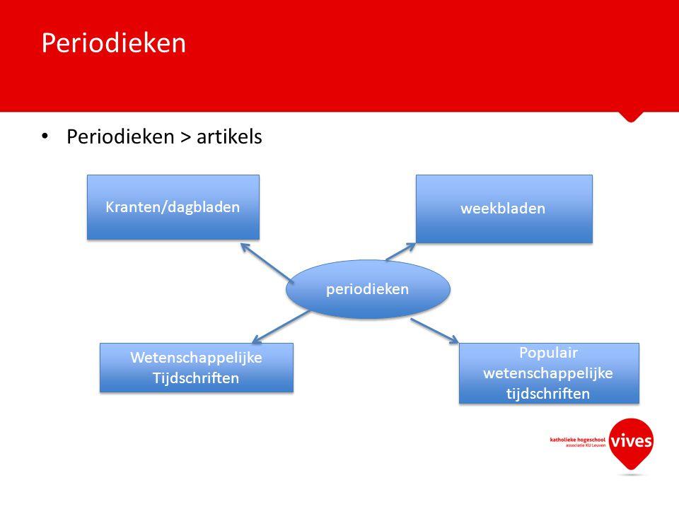 Periodieken Periodieken > artikels Kranten/dagbladen weekbladen