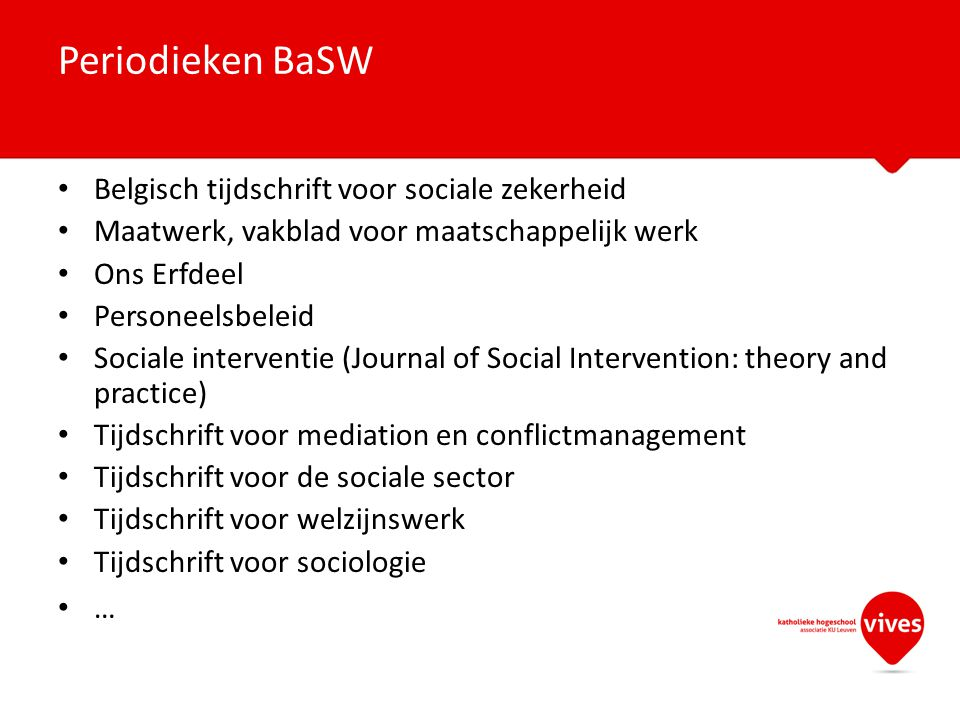 Periodieken BaSW Belgisch tijdschrift voor sociale zekerheid