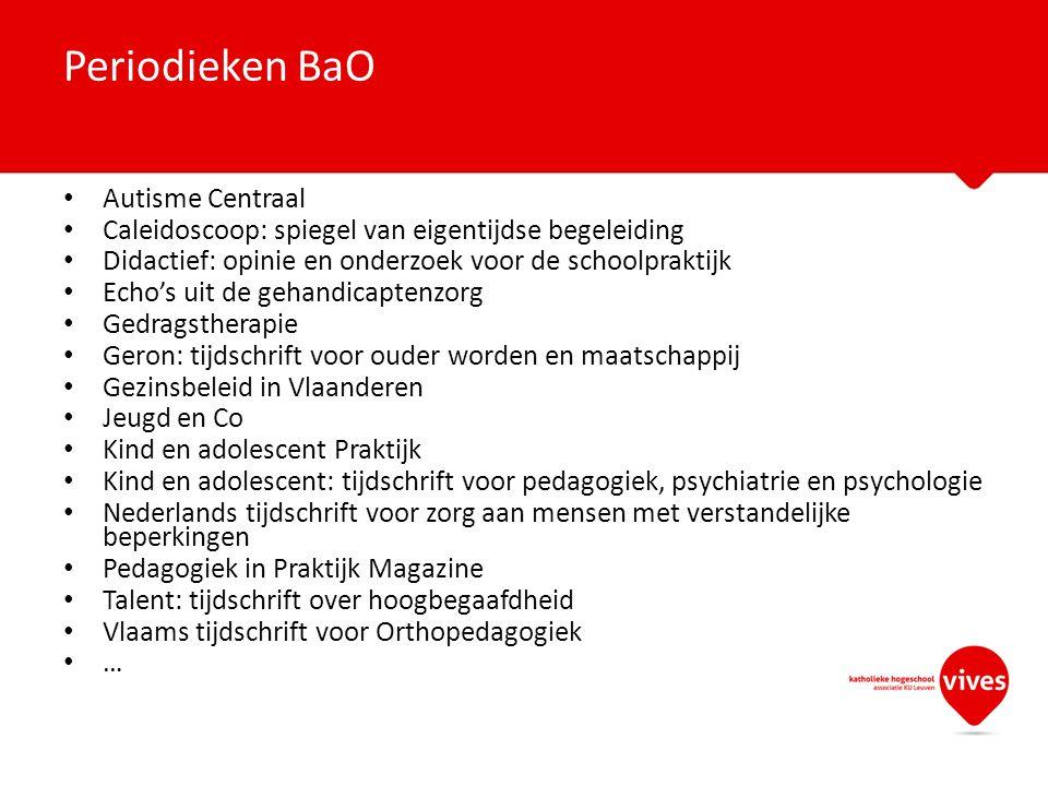 Periodieken BaO Autisme Centraal