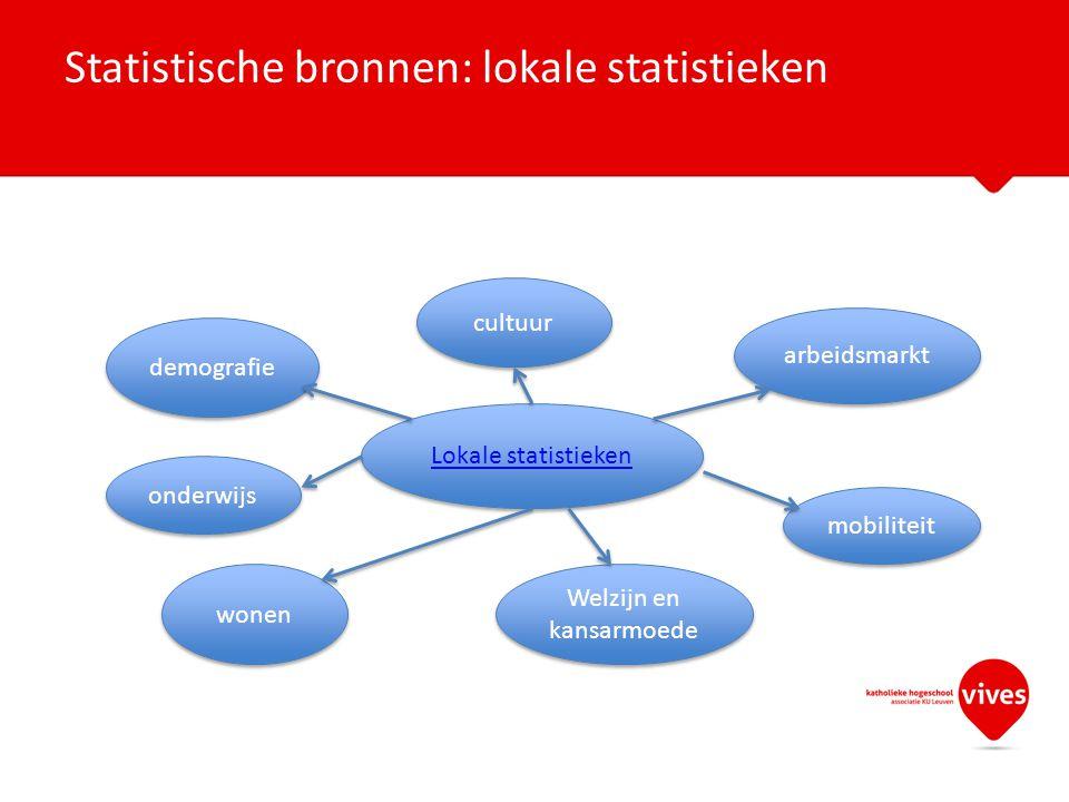 Statistische bronnen: lokale statistieken