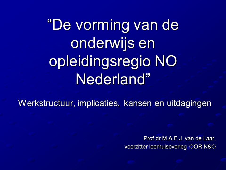 De vorming van de onderwijs en opleidingsregio NO Nederland