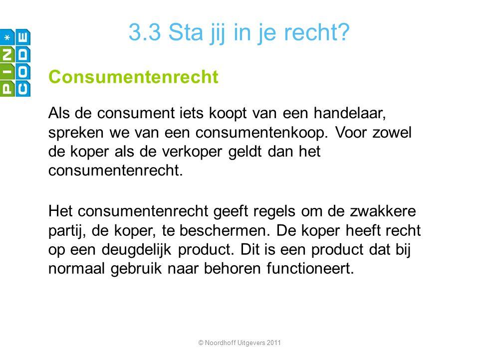 3.3 Sta jij in je recht Consumentenrecht