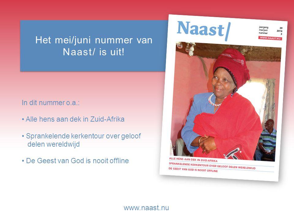 Het mei/juni nummer van Naast/ is uit!
