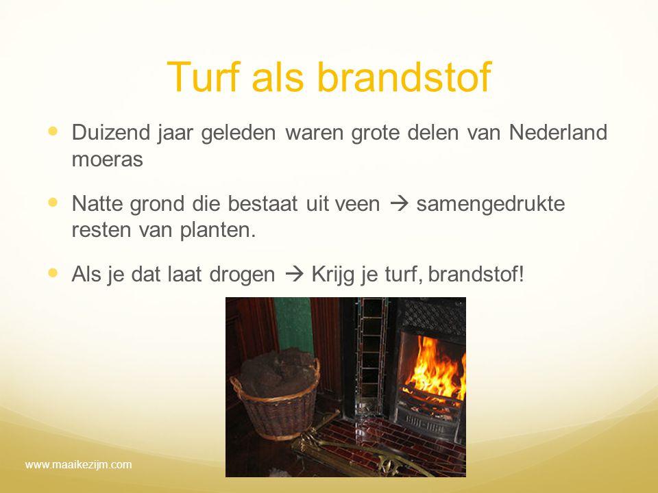 Turf als brandstof Duizend jaar geleden waren grote delen van Nederland moeras.
