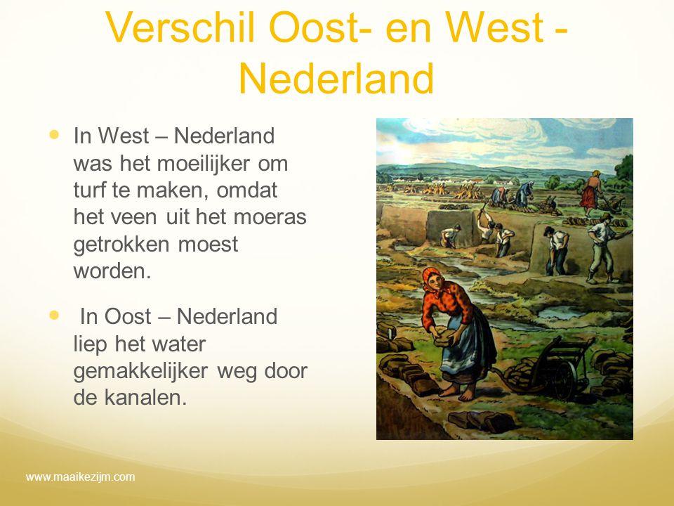 Verschil Oost- en West - Nederland