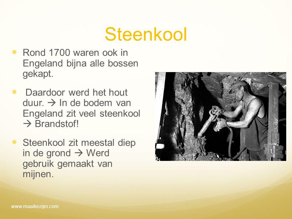 Steenkool Rond 1700 waren ook in Engeland bijna alle bossen gekapt.