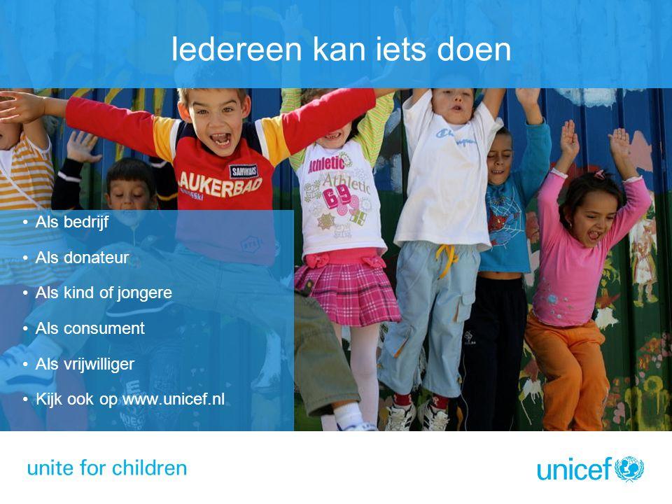 Iedereen kan iets doen Als bedrijf Als donateur Als kind of jongere