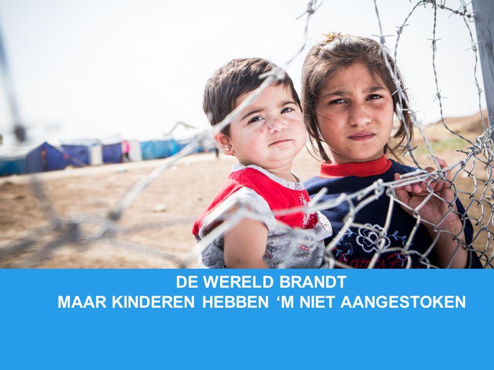 DE WERELD BRANDT MAAR KINDEREN HEBBEN 'M NIET AANGESTOKEN