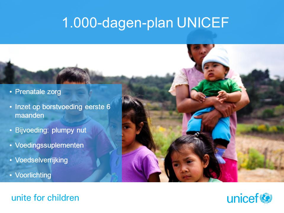 1.000-dagen-plan UNICEF Prenatale zorg