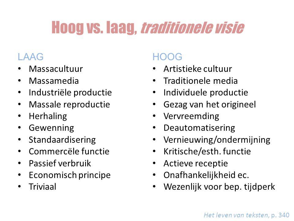 Hoog vs. laag, traditionele visie