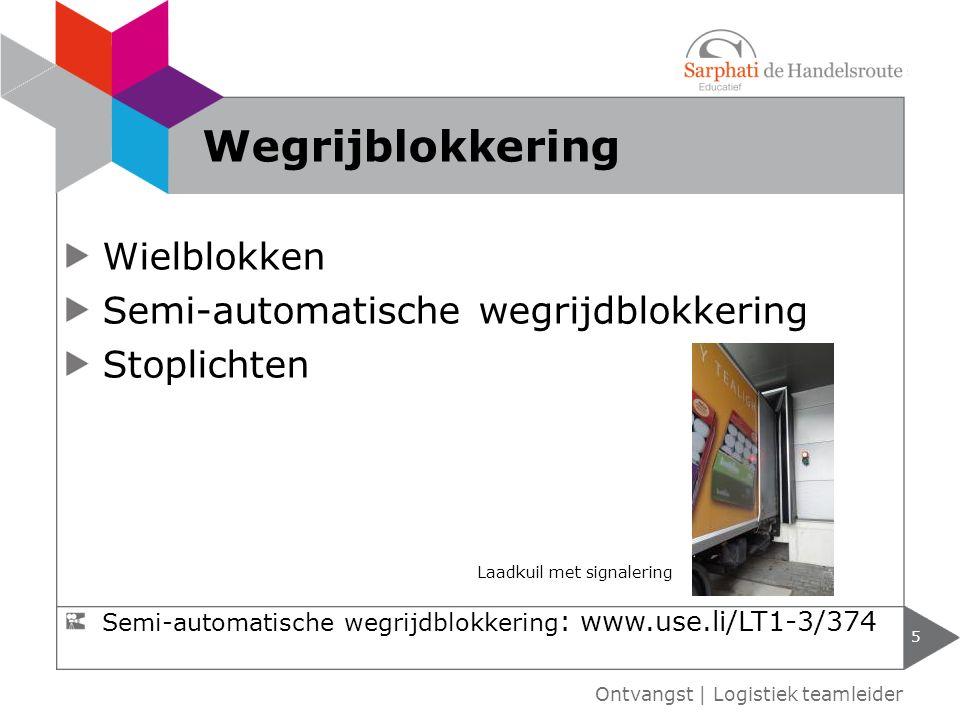 Wegrijblokkering Wielblokken Semi-automatische wegrijdblokkering