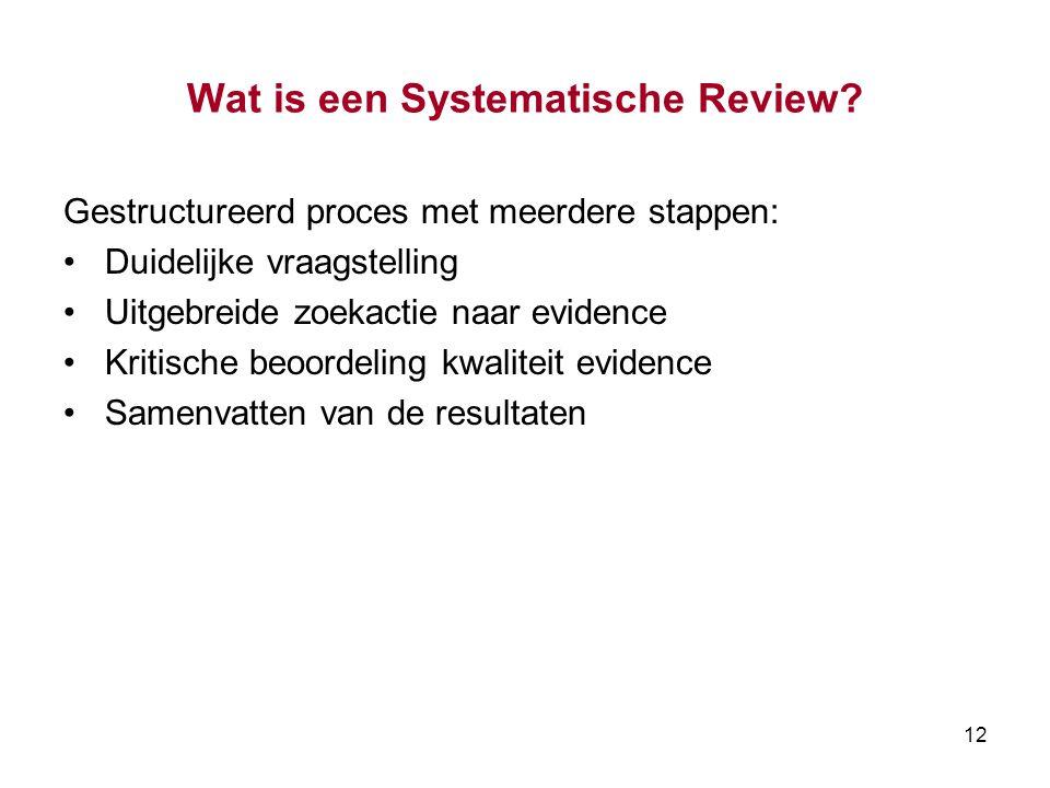 Wat is een Systematische Review