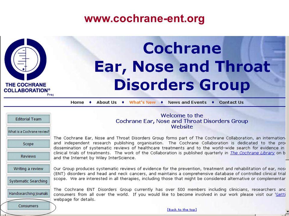 www.cochrane-ent.org