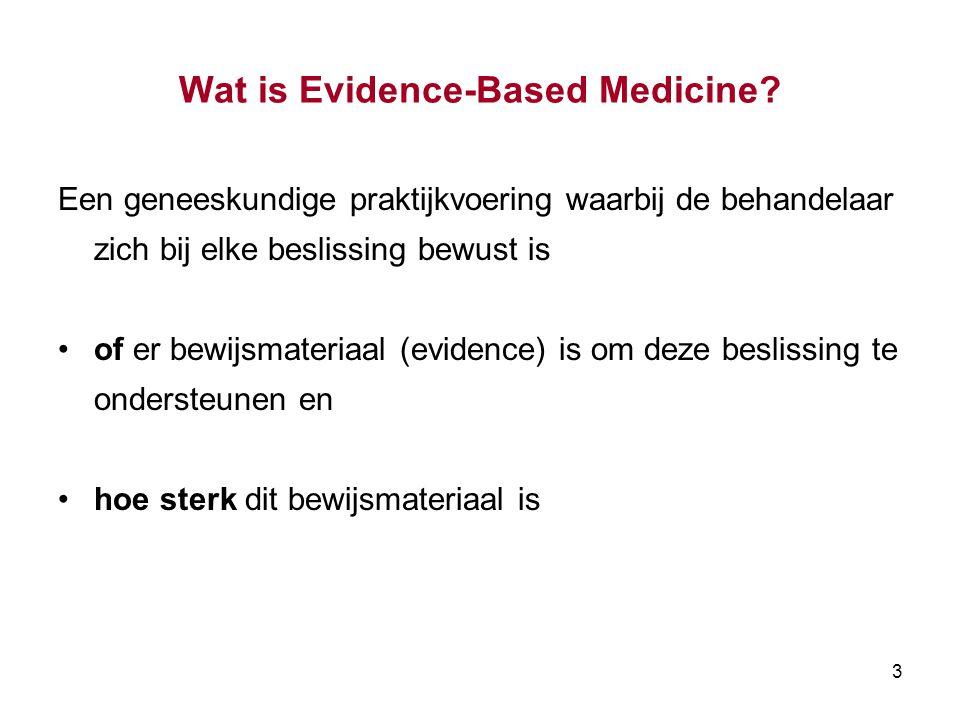 Wat is Evidence-Based Medicine