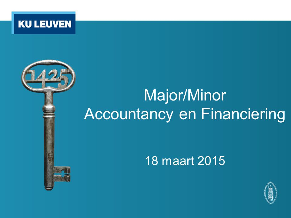 Major/Minor Accountancy en Financiering