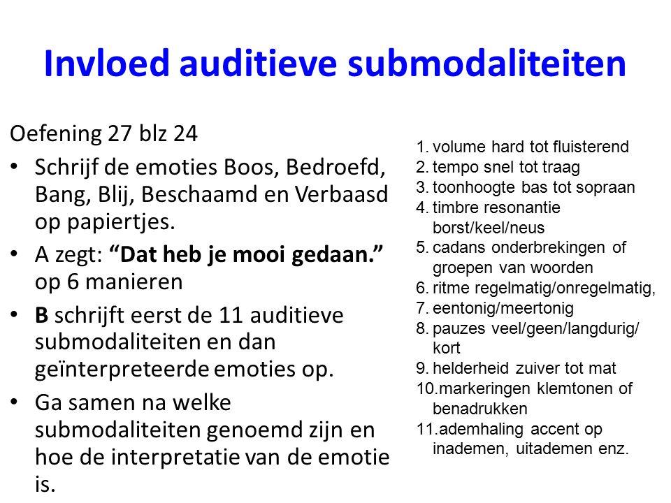 Invloed auditieve submodaliteiten