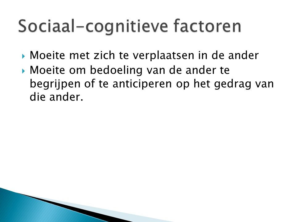 Sociaal-cognitieve factoren