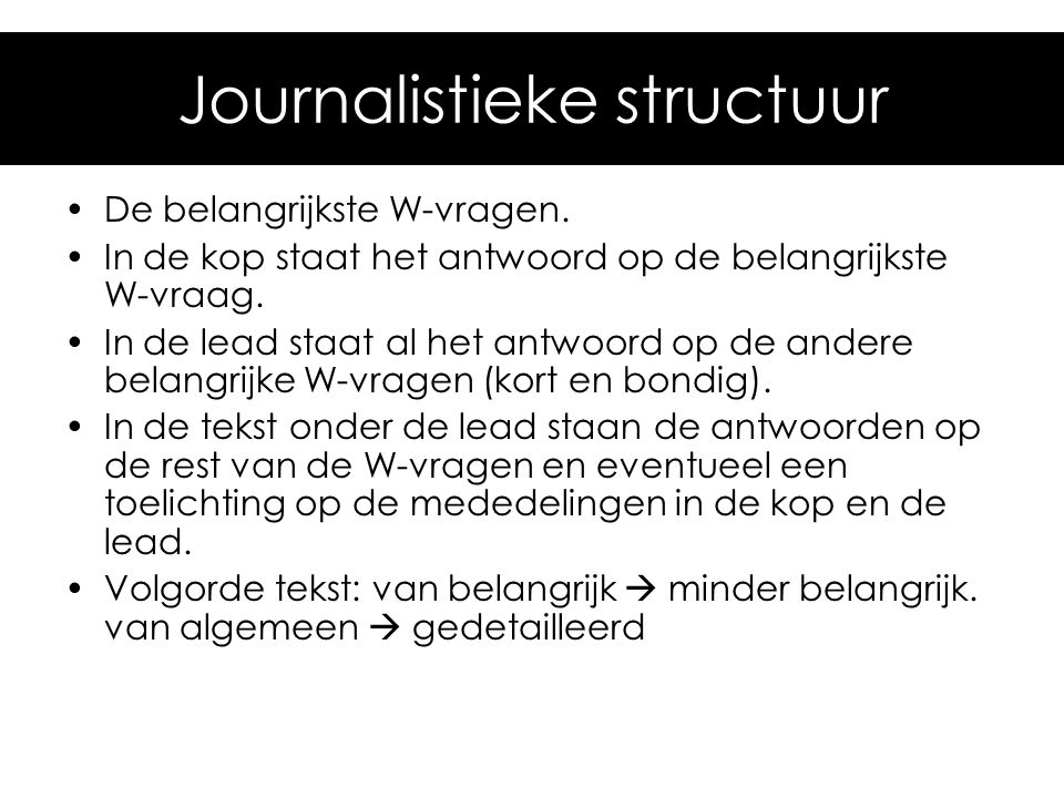 Journalistieke structuur