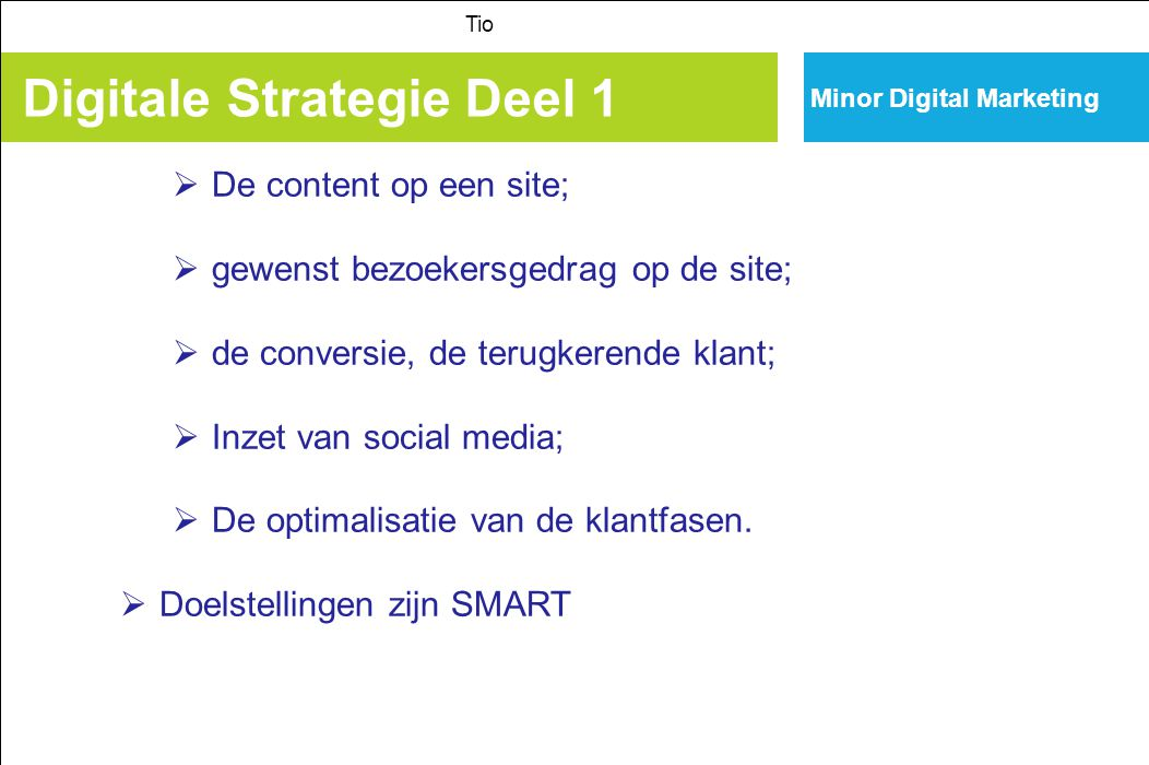 Digitale Strategie Deel 1
