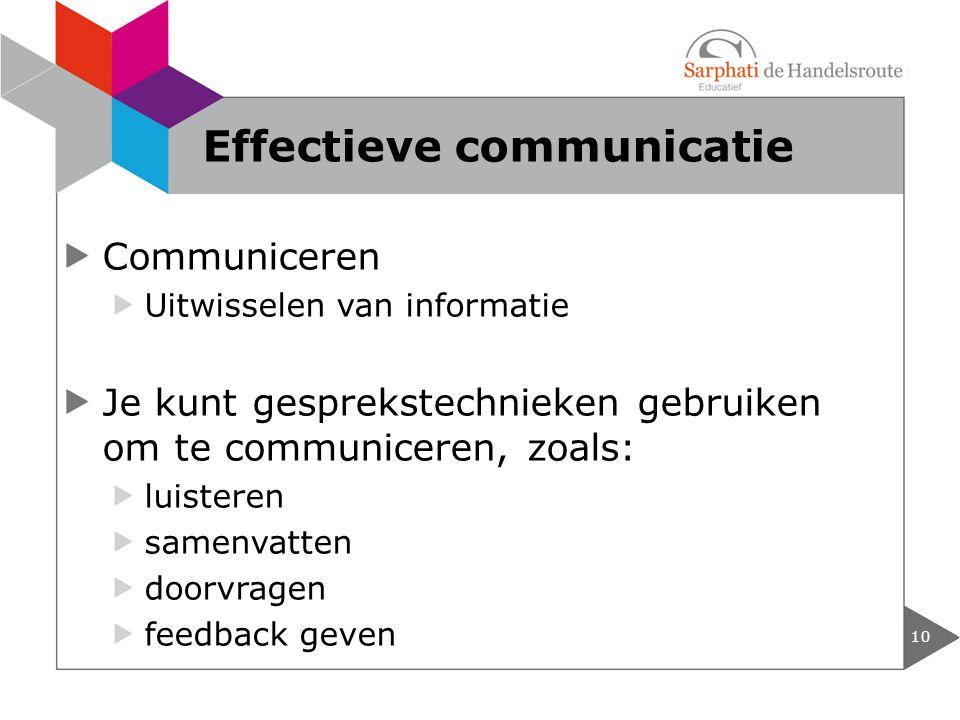 Effectieve communicatie