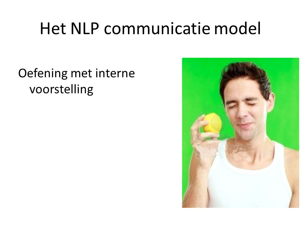 Het NLP communicatie model