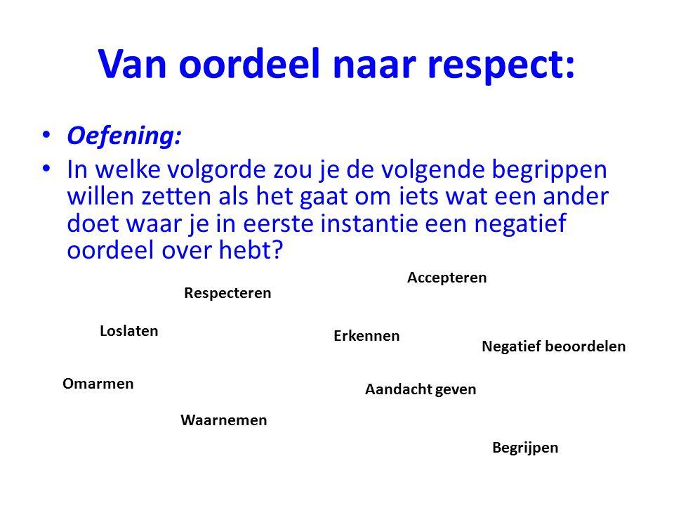 Van oordeel naar respect: