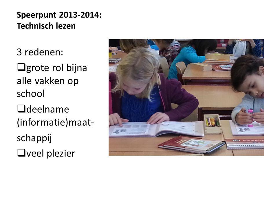 Speerpunt 2013-2014: Technisch lezen