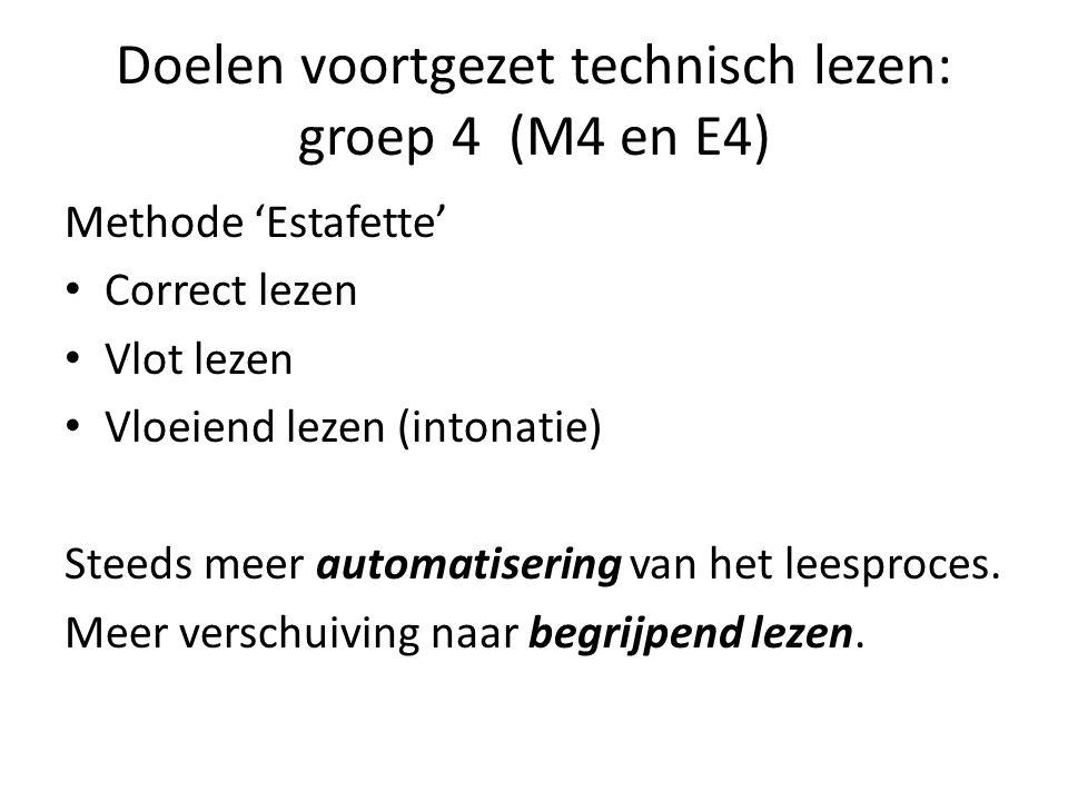 Doelen voortgezet technisch lezen: groep 4 (M4 en E4)