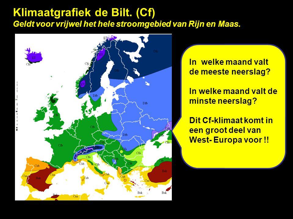 Klimaatgrafiek de Bilt. (Cf)