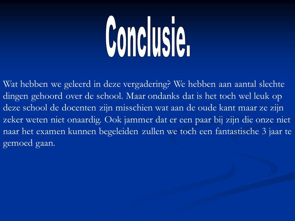 Conclusie.