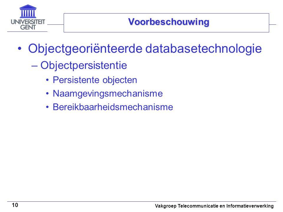 Objectgeoriënteerde databasetechnologie