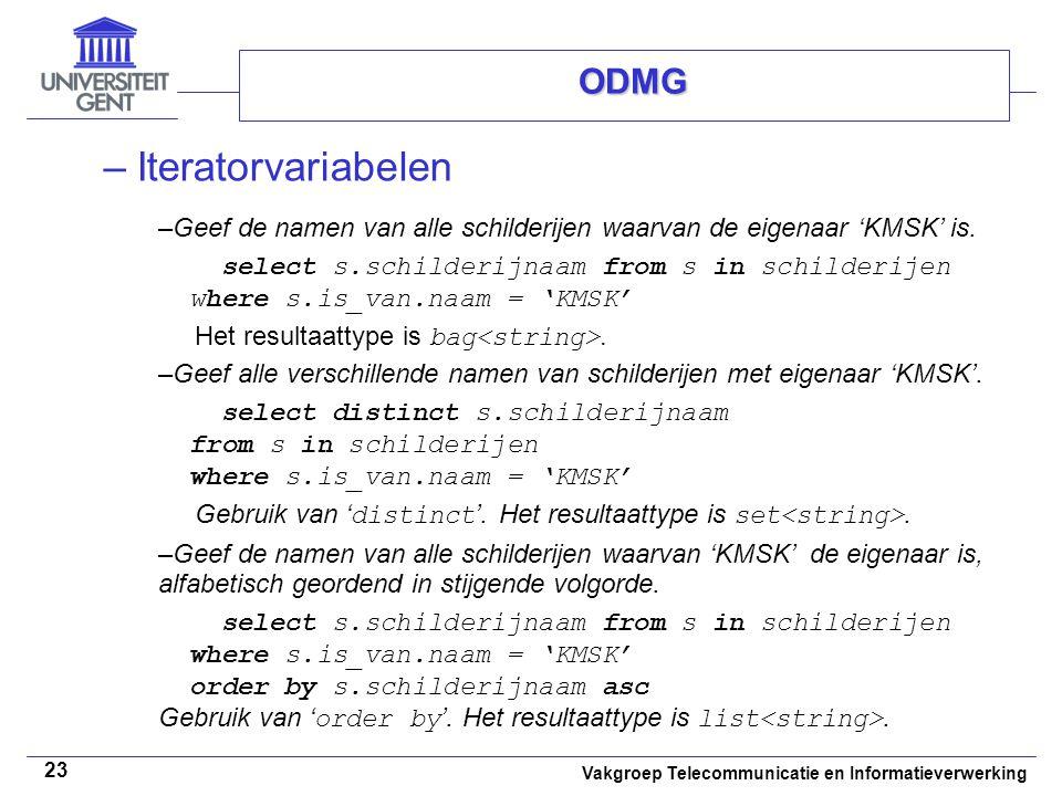 Iteratorvariabelen ODMG