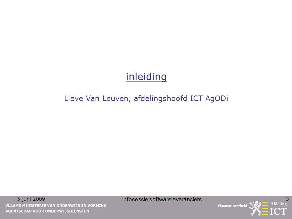 inleiding Lieve Van Leuven, afdelingshoofd ICT AgODi
