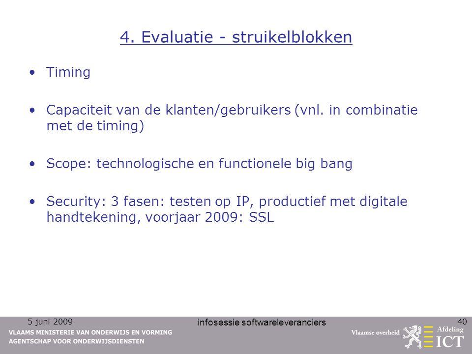 4. Evaluatie - struikelblokken
