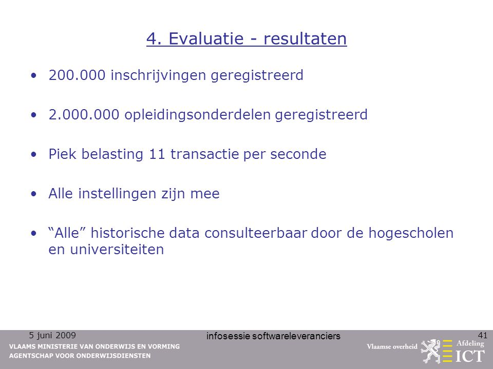4. Evaluatie - resultaten