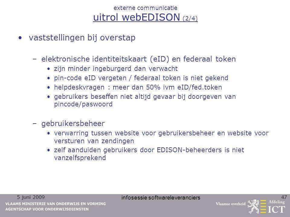 externe communicatie uitrol webEDISON (2/4)