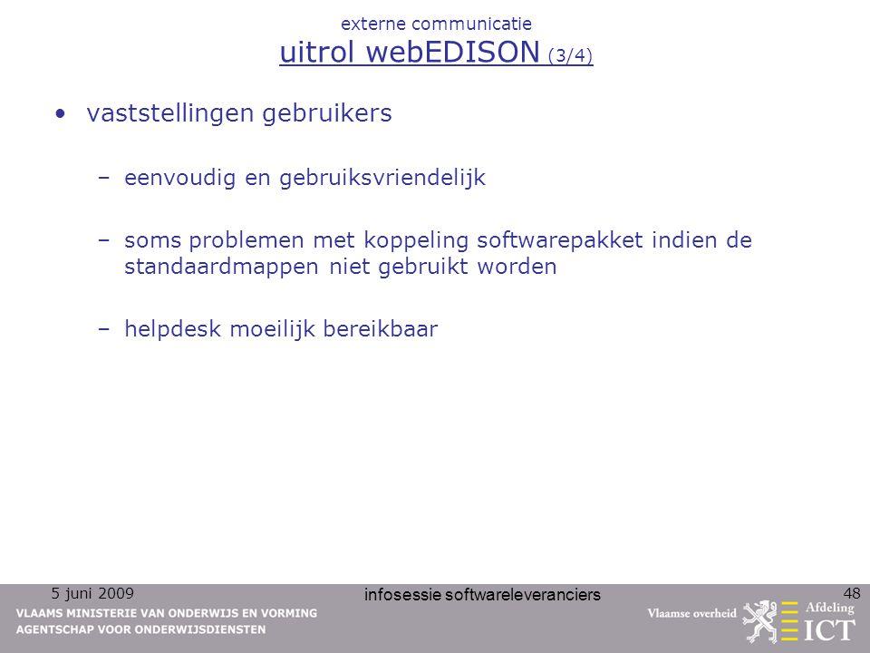 externe communicatie uitrol webEDISON (3/4)