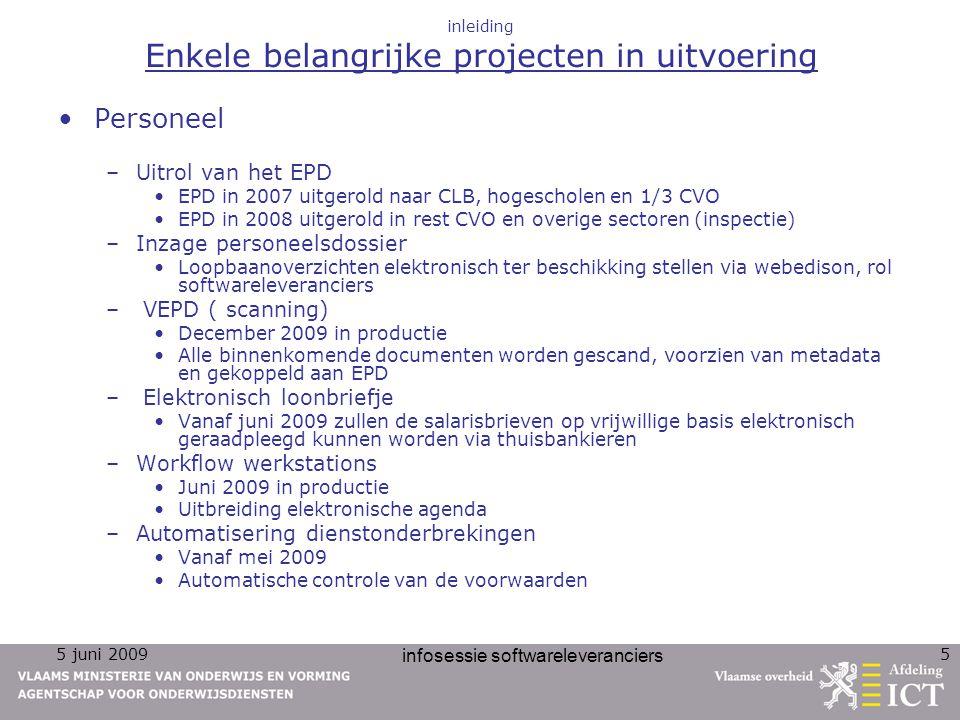 inleiding Enkele belangrijke projecten in uitvoering