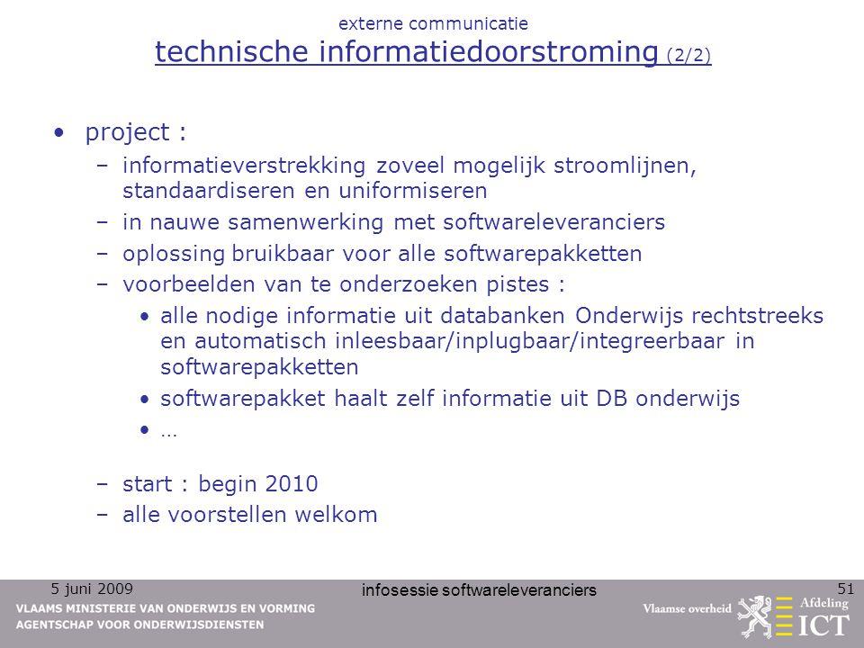 externe communicatie technische informatiedoorstroming (2/2)