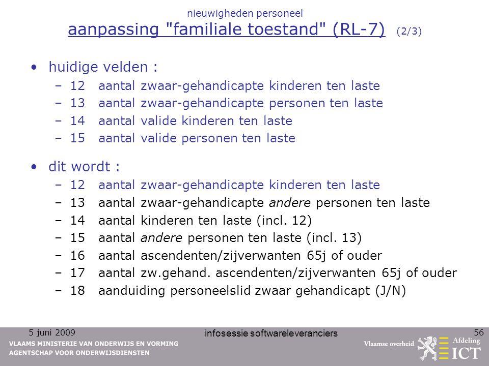nieuwigheden personeel aanpassing familiale toestand (RL-7) (2/3)
