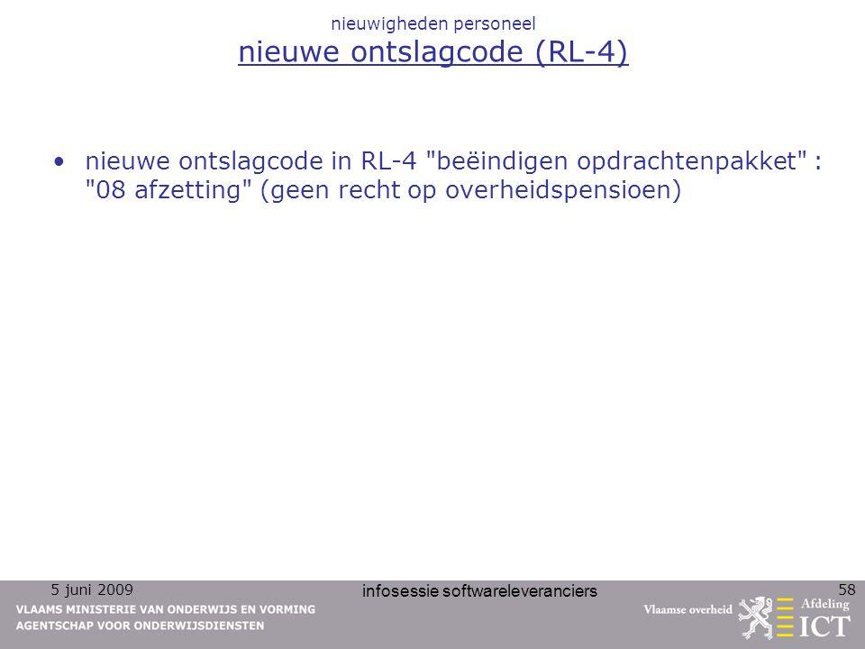 nieuwigheden personeel nieuwe ontslagcode (RL-4)