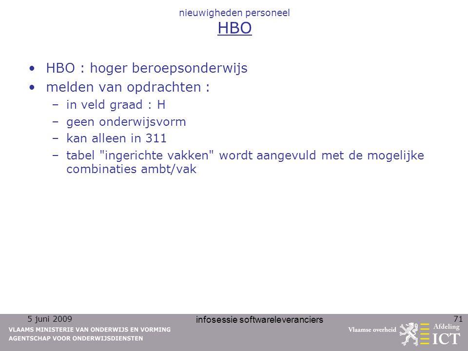 nieuwigheden personeel HBO