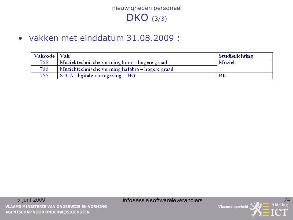 nieuwigheden personeel DKO (3/3)