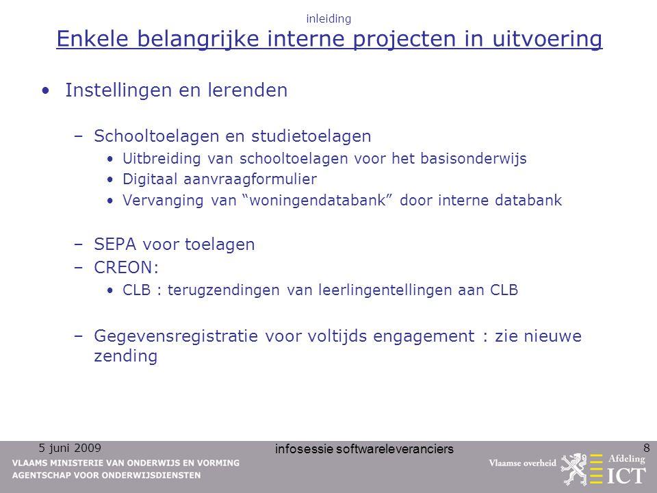 inleiding Enkele belangrijke interne projecten in uitvoering