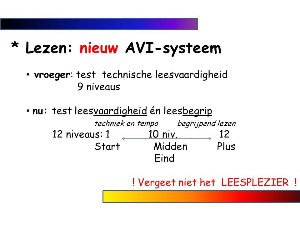 * Lezen: nieuw AVI-systeem