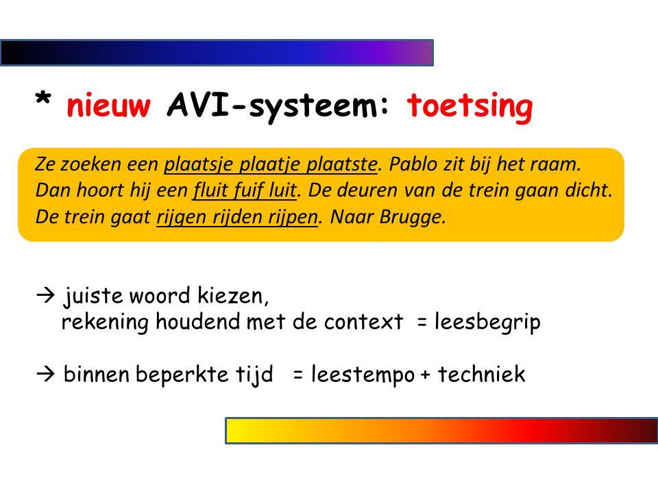* nieuw AVI-systeem: toetsing