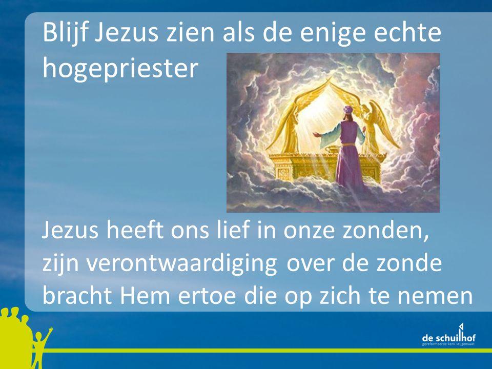 Blijf Jezus zien als de enige echte hogepriester