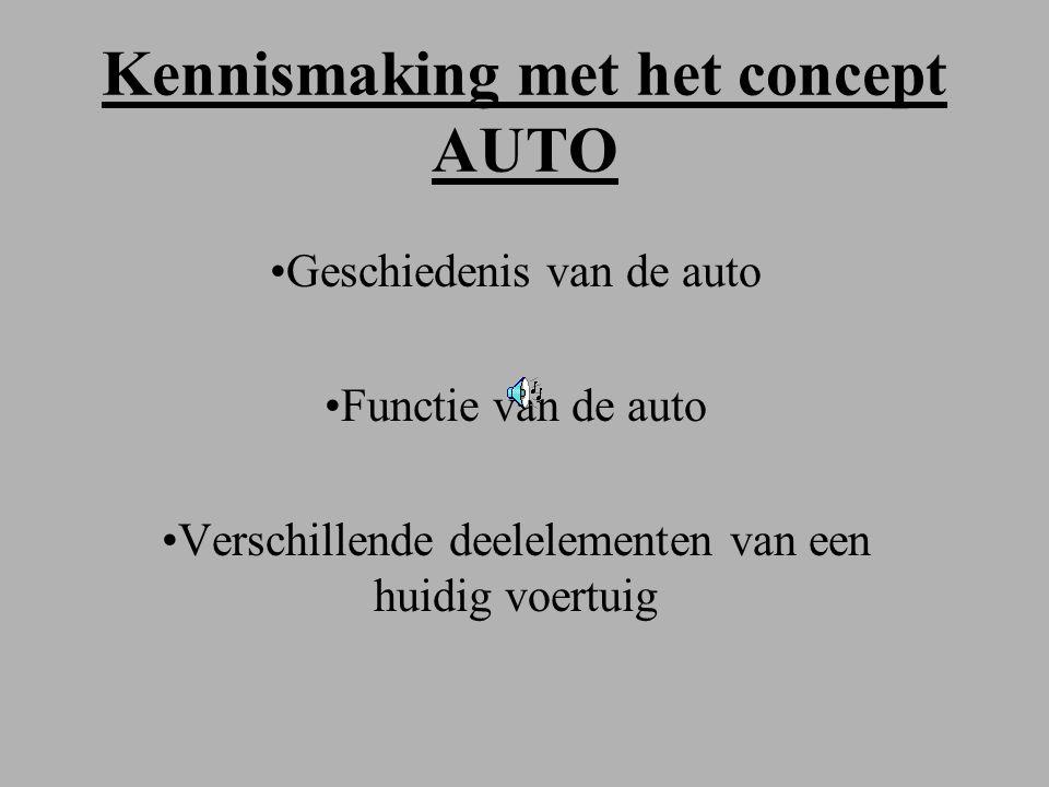 Kennismaking met het concept AUTO